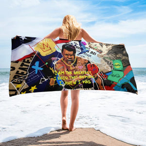 I AM THE GREATEST - BEACH TOWEL - REBHORN DESIGN