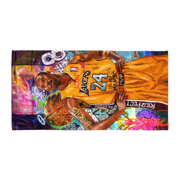 KOBE BRYANT - LEGENDS NEVER DIE BEACH TOWEL - REBHORN DESIGN