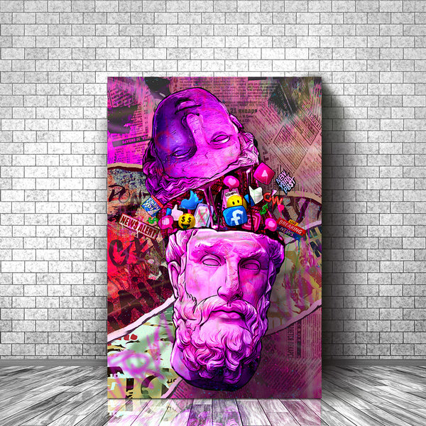 Brainwashed By The Media Pop Art Canvas Print