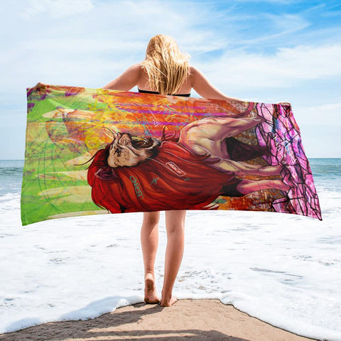 OWN YOUR KINGDOM BEACH TOWEL - REBHORN DESIGN