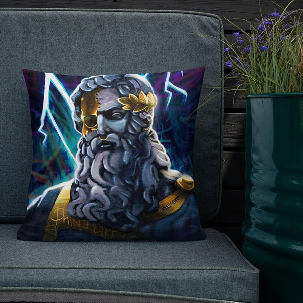 SHINE LIKE A GREEK GOD - PREMIUM PILLOW - REBHORN DESIGN