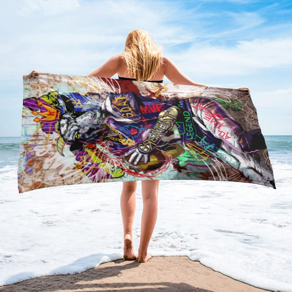 THE GOAT TB BEACH TOWEL - REBHORN DESIGN