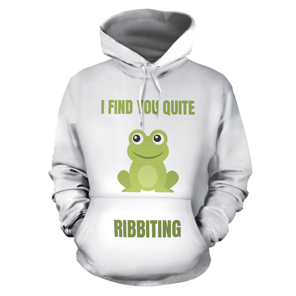 """I FIND YOU QUITE RIBBITING"" HOODIE"