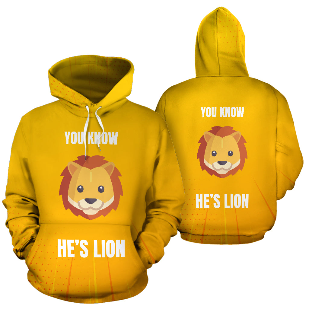 """YOU KNOW HE'S LION"" HOODIE"