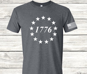 1776 With Flag Sleeve Screen Print Transfer