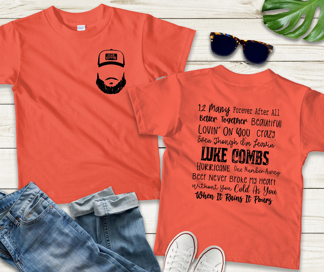 Luke Combs/Greatest Hits Full Back and Pocket Screen Print Transfer
