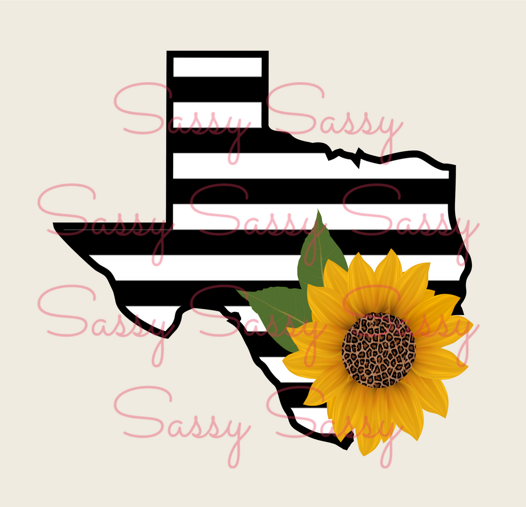 Texas and Sunflower PNG - Digital File - NOT A PHYSICAL PRODUCT