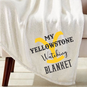 Yellow Stone Watching Blanket Sublimation Transfer