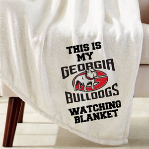 Bulldogs Watching Blanket Sublimation Transfer
