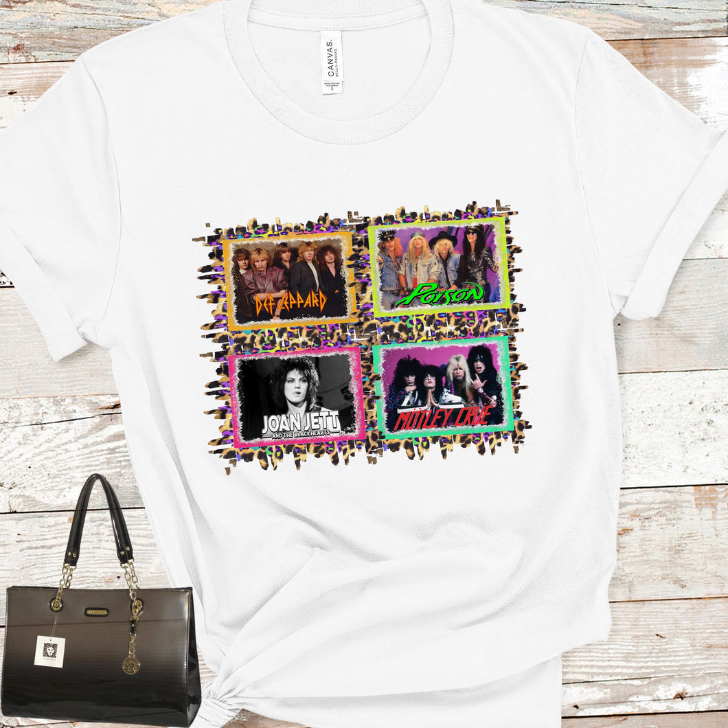 80s Bands Sublimation Transfer