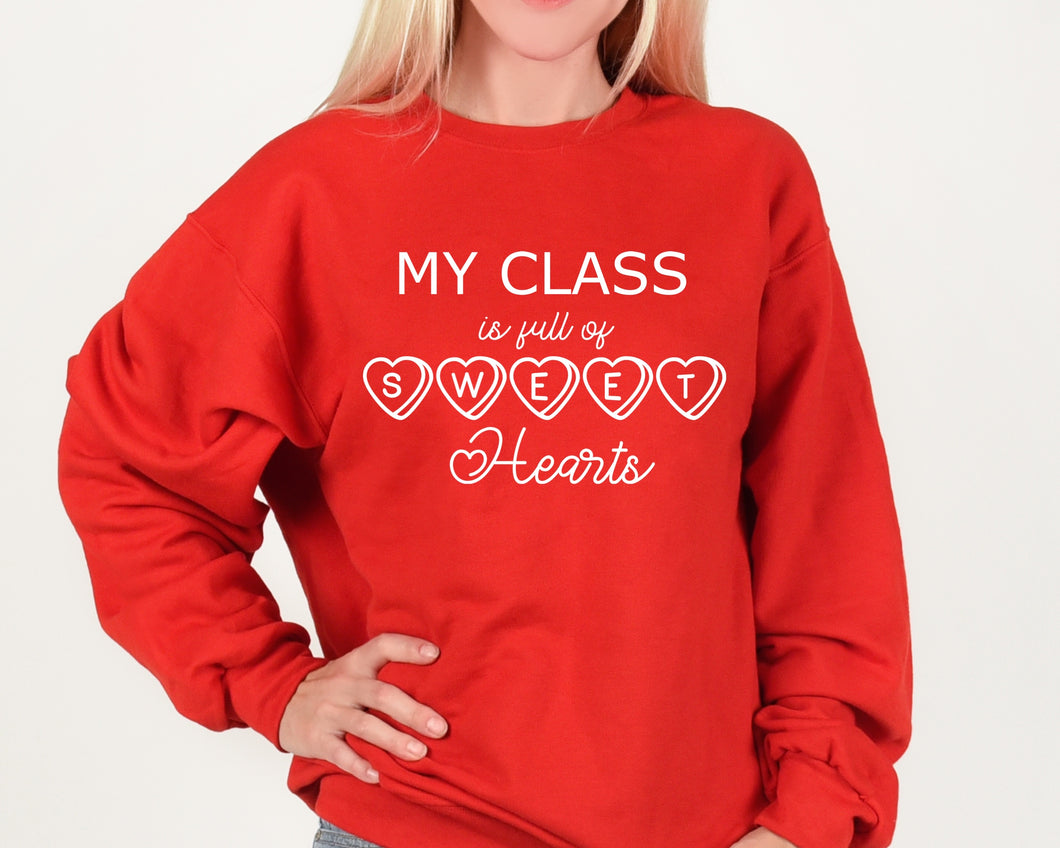 Class Is Full Of Sweethearts Screen Print Transfer