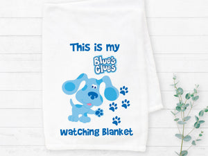 Blues Clues Watching Blanket Sublimation Transfer
