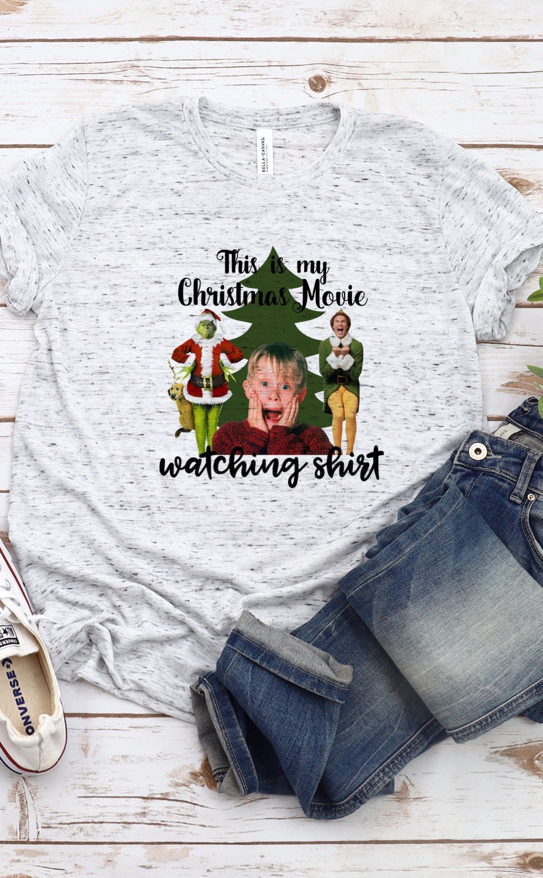 Christmas Movie Watching Shirt Sublimation Transfer