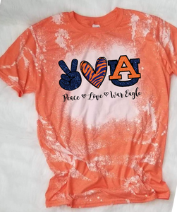 Peace Love Auburn Sublimation Transfer