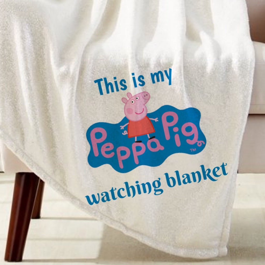 Peppa Pig Watching Blanket Sublimation Transfer