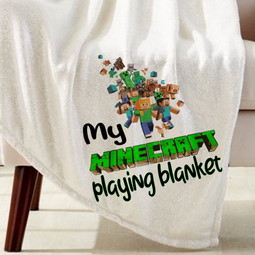 Minecraft Playing Blanket Sublimation Transfer