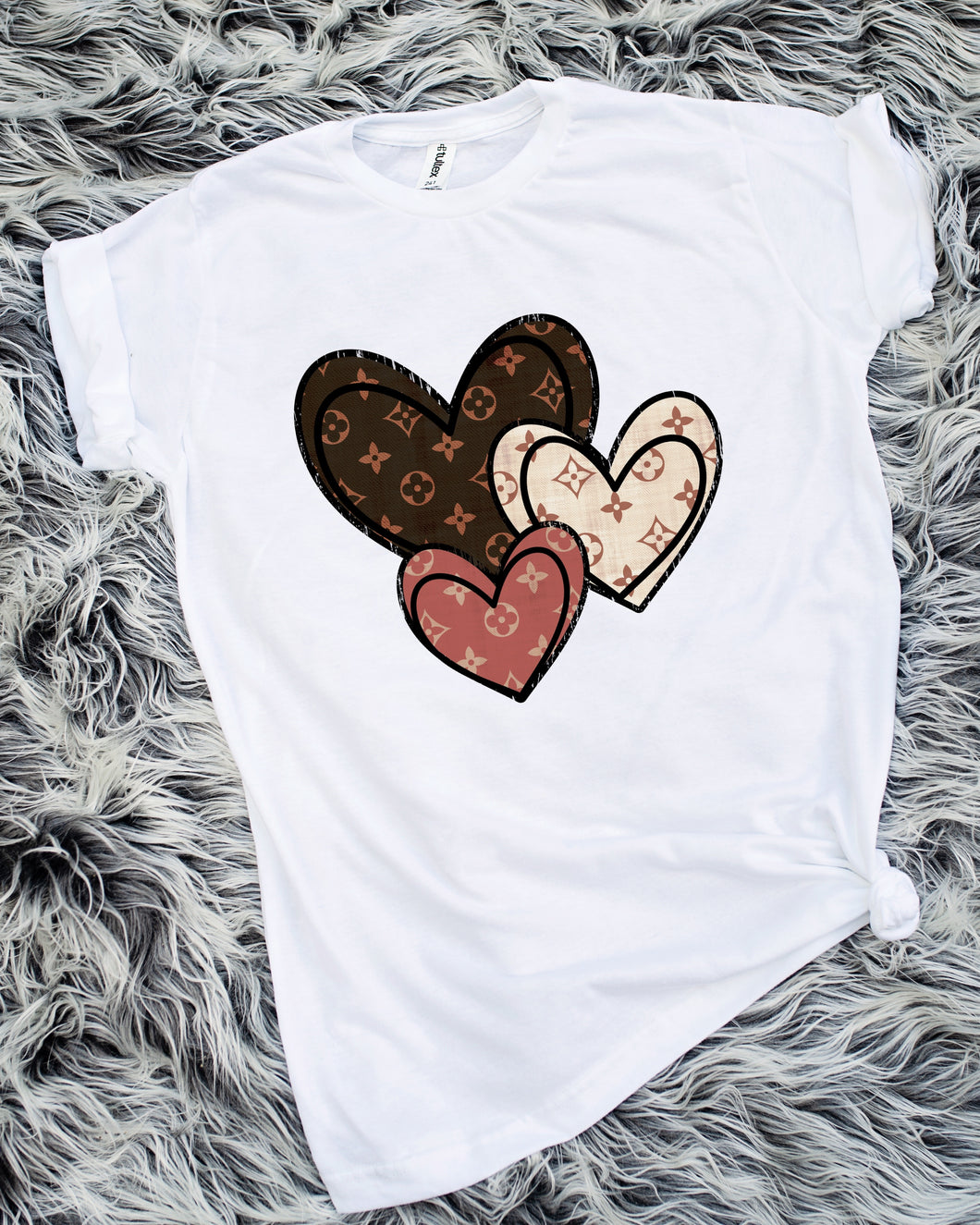 Three Hearts LV Inspired Sublimation Transfer