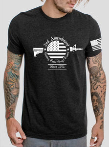 2nd Amendment With Sleeve Flag Screen Print Transfer