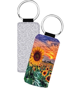 Set of 4 - Sunflower Fields Keychain Sublimation Transfer