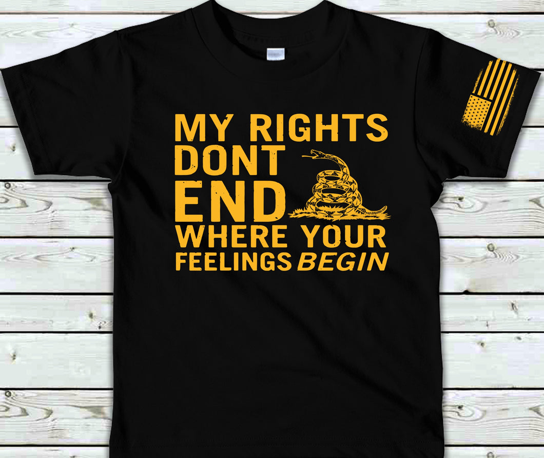 My Rights Don't End With Flag Sleeve Screen Print Transfer