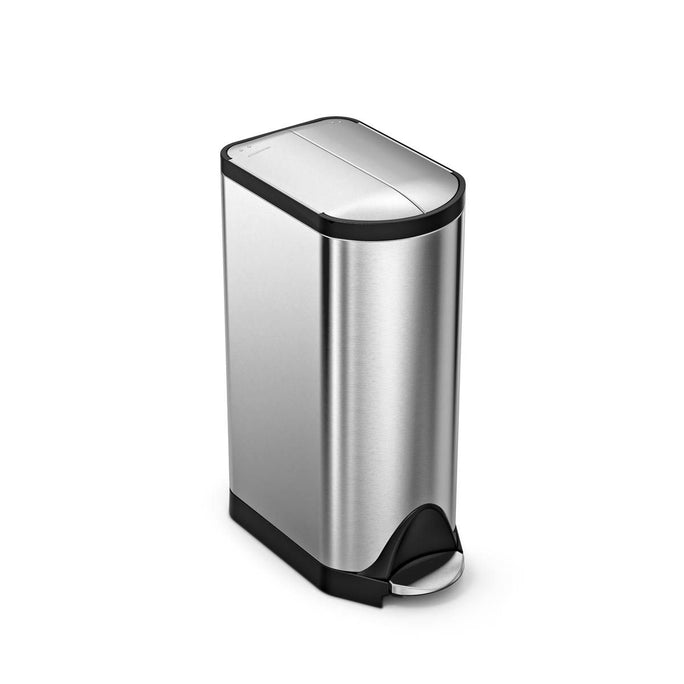 30L butterfly pedal bin - brushed finish - main image