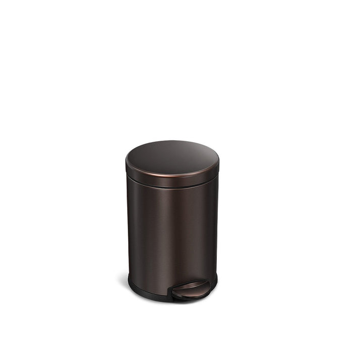 4.5L round pedal bin - dark bronze finish - front view main image