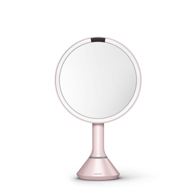 sensor mirror with touch-control brightness - pink finish - main image