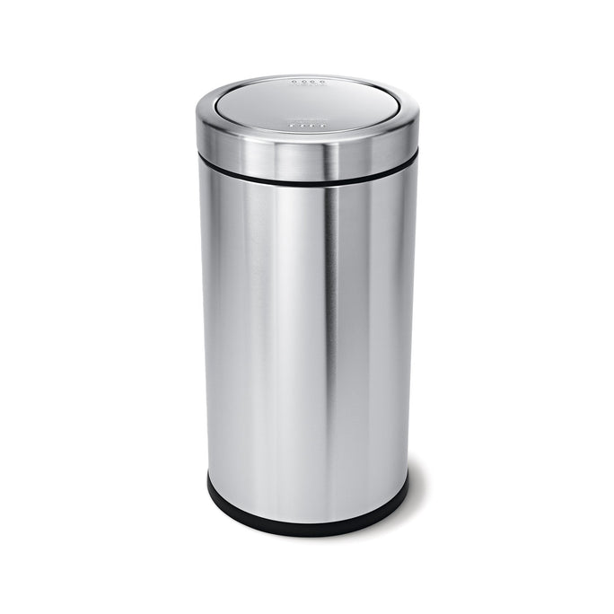55L swing top bin - brushed stainless steel - main image