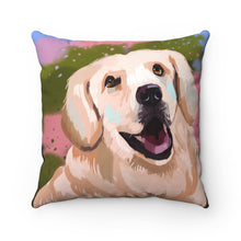 Load image into Gallery viewer, Dog Portrait Square Pillow