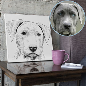Gorgeous Custom Sketch Style Drawing Portrait from Photo | Canvas