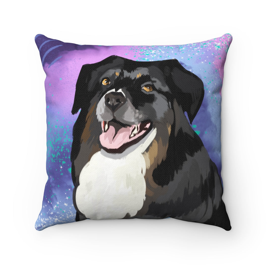 Dog Portrait Square Pillow