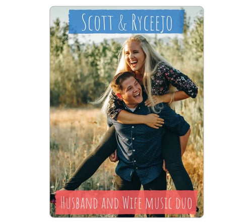 Magnet - Husband & Wife Music Duo (3.5x5 in.)