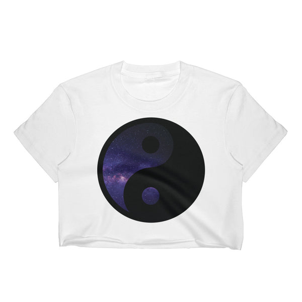 Ying Yang Galaxy Crop Top