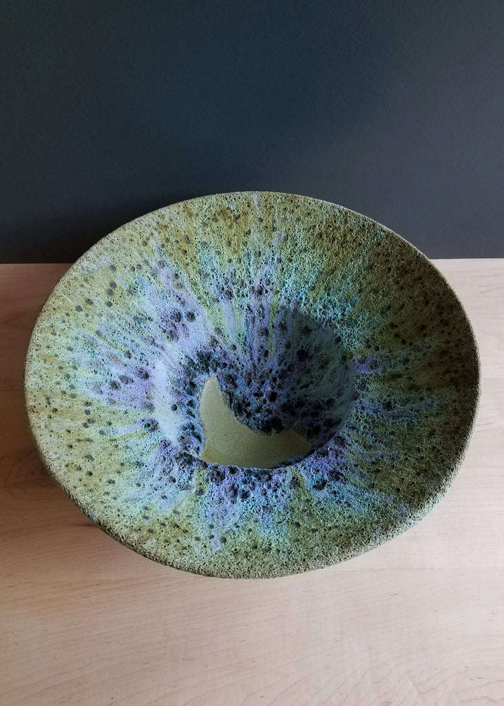 crater glaze ceramic vessel