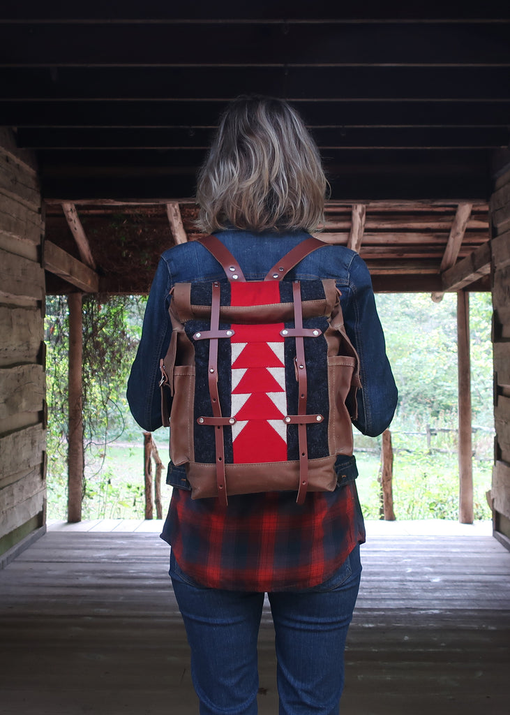 classic patchwork backpack