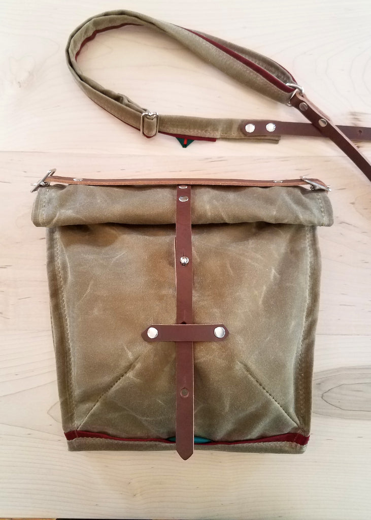 musette waxed canvas satchel