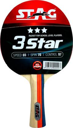Stag 3 Star Table Tennis Racquet (Multi- Colour, 148 grams)