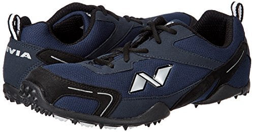Nivia Men's Marathon Mesh PU Blue and Black Running Shoes - sppartos