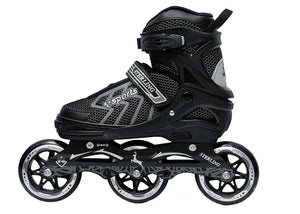 Sterling Shield Adjustable Inline Skate // Inliners With 100 mm 3-PU Speedy Wheels Tri-Skate - sppartos
