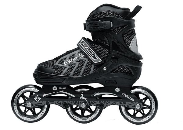 Sterling Shield Adjustable Inline Skate // Inliners With 100 mm 3-PU Speedy Wheels Tri-Skate