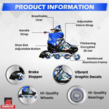 Kamachi Aluminium Body High Quality In-Line Skates Adjustable