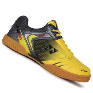 Yonex LEGEND KING 68 Badminton Shoes (Yellow/Gun Metel Gray)