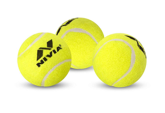 Nivia Light Weight Rubber Tennis Cricket Ball, Pack of 6 (Yellow)