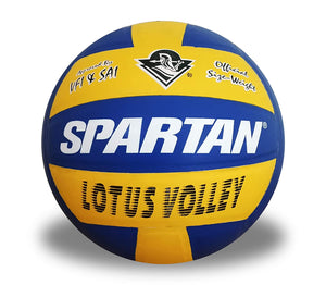 Spartan Lotus Volley Korean Pu Volleyball - Size 4 (Yellow and Blue)