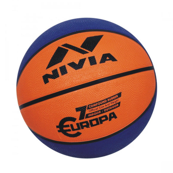 Nivia Europa Basketball (color may vary): size 7