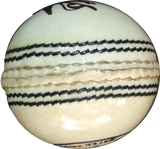 NN Sports Yorker Cricket Leather Ball white 2pc