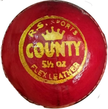 Sppartos County Cricket Leather Ball 4pc