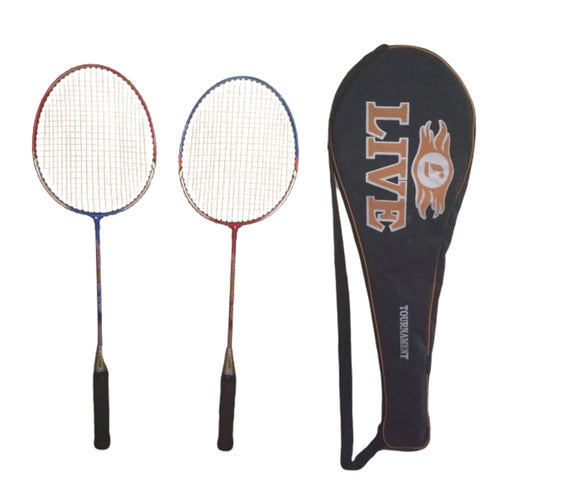 Live Rainbow 500 Steel Shaft Badminton Racket pair(Pack of 2)