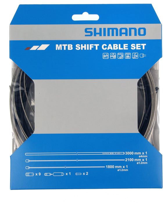 SHIMANO MTB GEAR CABLE SET / STAINLESS STEEL INNER