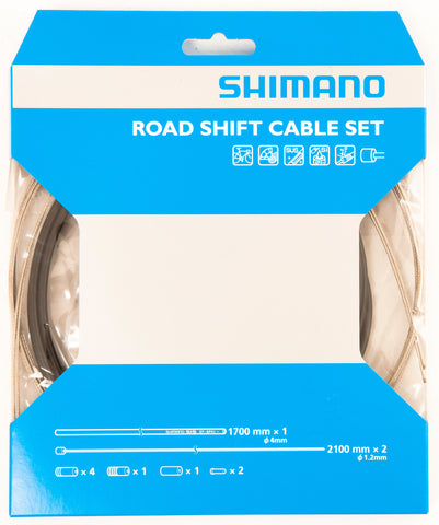 SHIMANO ROAD GEAR CABLE SET / STAINLESS STEEL